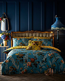 Oasis Leighton Teal Duvet Cover Set