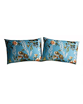 Oasis Leighton 180 Thread Count Cotton Teal Pillow Cases