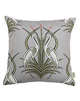 The Chateau Heron In The Moat Cushion