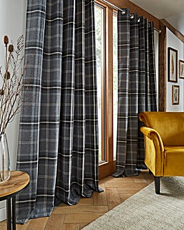 Aviemore Check Lined Eyelet Curtain