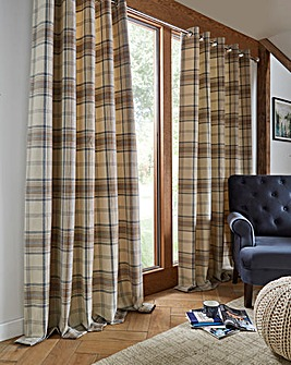 Aviemore Check Lined Curtain