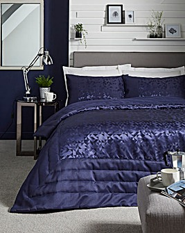 Lucien Navy Jacquard Throw