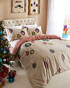 Vintage Christmas Duvet Cover Set