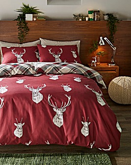 Munro Stag Check Duvet Cover Set