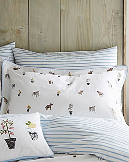 Joules Garden Dogs Pillow Case