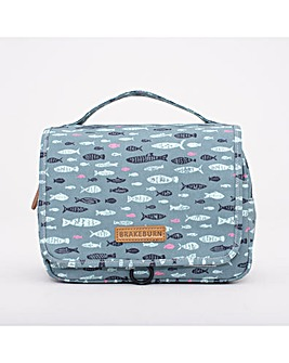 BRAKEBURN FISH WEEKEND WASH BAG