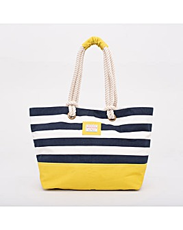 BRAKEBURN BLOCK STRIPE BEACH BAG