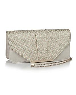 Ruby Shoo Pleat Detail Clutch Bag