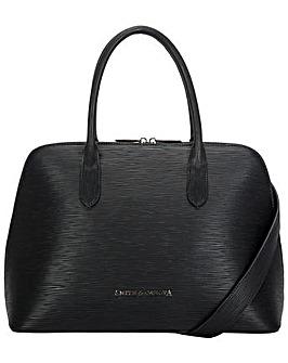 Smith & Canova Embossed Leather Bugatti Bag
