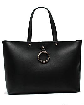 Versace Jeans Circular Logo Shopper Bag