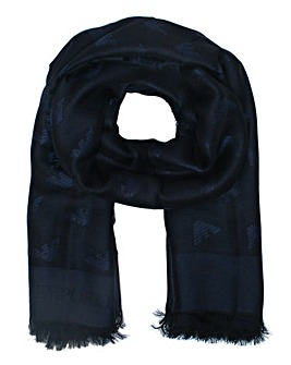 Emporio Armani Logo Cotton Mix Scarf