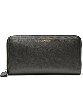 Emporio Armani Zip Around Logo Wallet