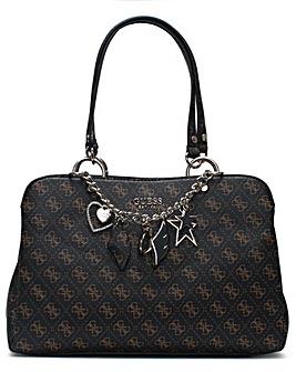 Guess Girlfriend Logo Satchel Bag
