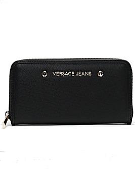 Versace Jeans Embellished Zip Wallet