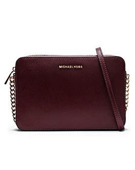 Michael Kors EW Leather Cross-Body Bag