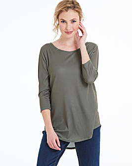 Khaki Cut Out Back Top