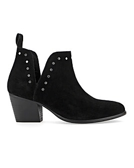 Bree Suede Cut Out Boots Extra Wide Fit