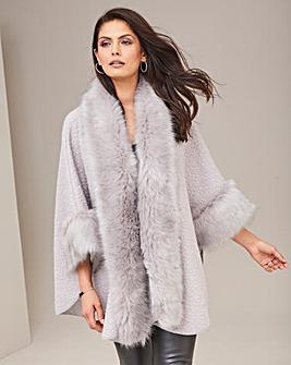 Joanna Hope Faux Fur Cape