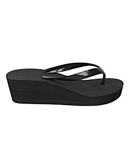 Wedge Flip Flop Sandals Standard Fit