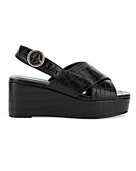 Ripley Cross Strap Flatforms Extra Wide EEE Fit