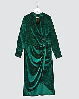 Joanna Hope Velour Twist Dress