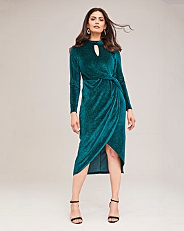 Joanna Hope Sparkle Velour Twist Dress