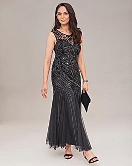 Joanna Hope Sequin Fit N Flare Dress