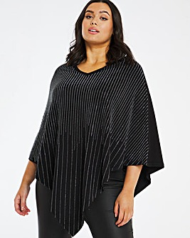 Joanna Hope Diamante Trim Poncho