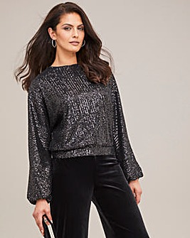 Joanna Hope Multiway Balloon Sleeve Top