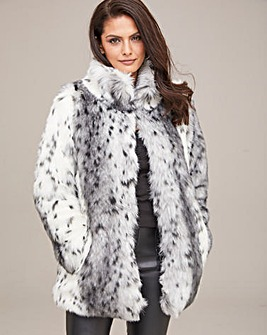 Joanna Hope Faux Fur Jacket