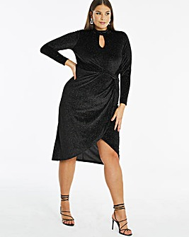 Joanna Hope Velour Twist Dress