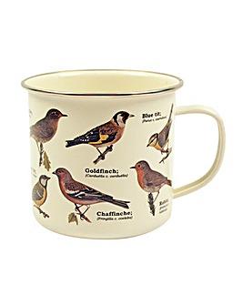 Garden Birds Enamel Mug