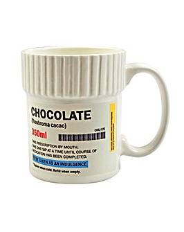 Pill Pot Mug Chocolate