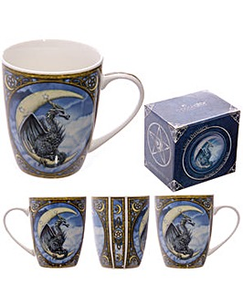 Lisa Parker Blue Dragon Moon Design Bone China Mug