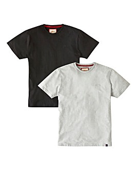 Joe Browns 2 Pack Logo T-Shirts Regular