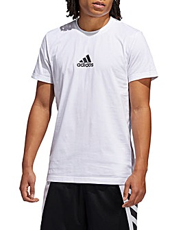 adidas Basketball 3 Stripes Spray T-Shirt