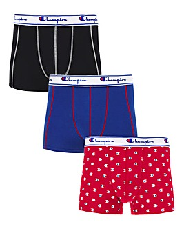 Champion Pack Of 3 Legacy Print Boxers