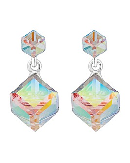 Jon Richard Graduated Cube Drop Earring