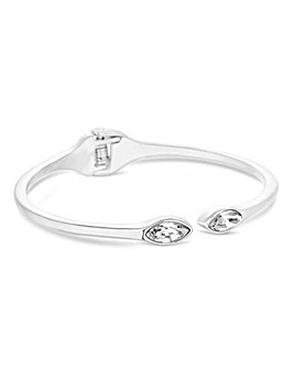 Jon Richard Crystal Navette Hinge Bangle