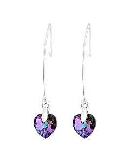 Jon Richard Polished Heart Drop Earring