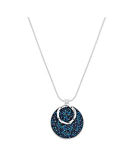 Jon Richard Blue Crystal Rocks Pendant