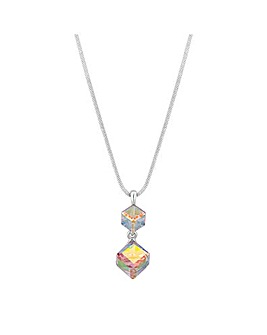 Jon Richard Graduated Cube Drop Necklace