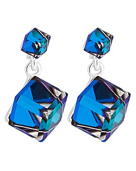 Jon Richard Blue Cube Drop Earring