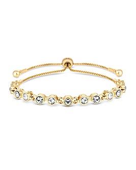 Jon Richard Gold Tennis Toggle Bracelet