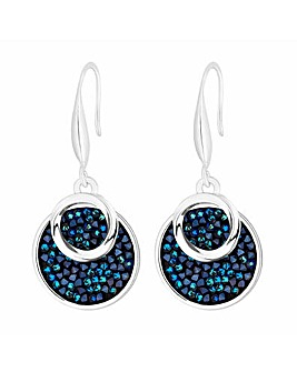Jon Richard Blue Crystal Rocks Earring