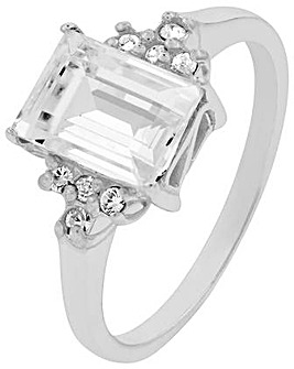 Accessorize Swarovski Emerald Cut Ring