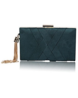 Perfect Anise Faux Suede Clutch Bag