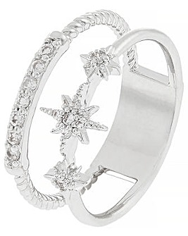 Platinum layered Sparkle Starry Ring