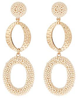 Accessorize Oval Beaded Drop Earrings