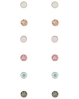 Accessorize 6X Swarovski Simple Stud Set